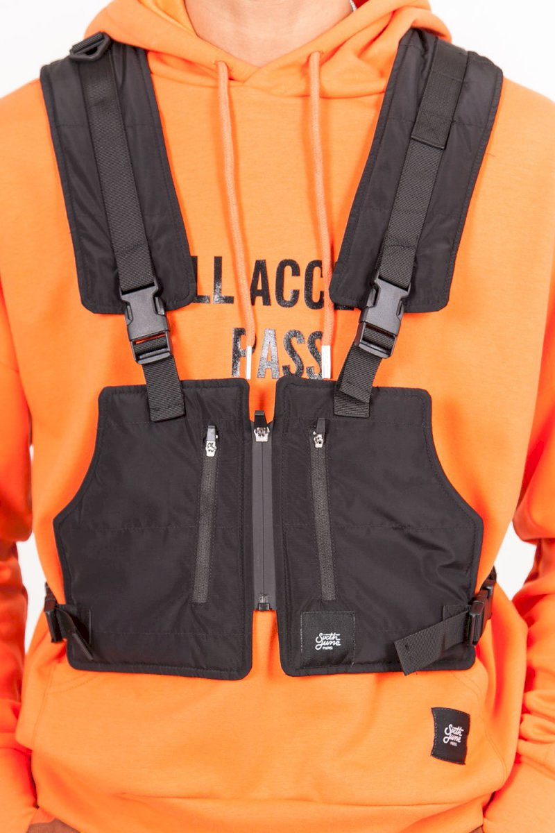 Sixth June TACTICAL JACKET Light (BLAC) Gilet tactique léger court noir