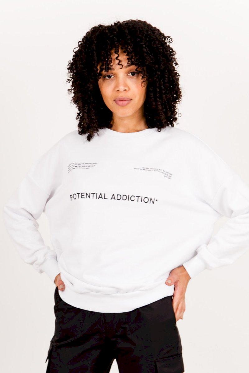 Sixth June ESSENTIAL SWEATSHIRT (WHIT) Sweat potential addiction blanc