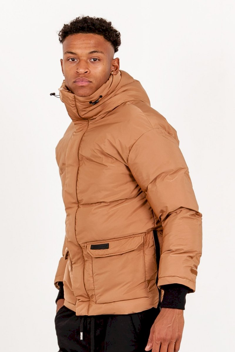 SIXTH JUNE OVERSIZE STYLISH DOWNJACKET (CAMEL) Doudoune courte détails beige
