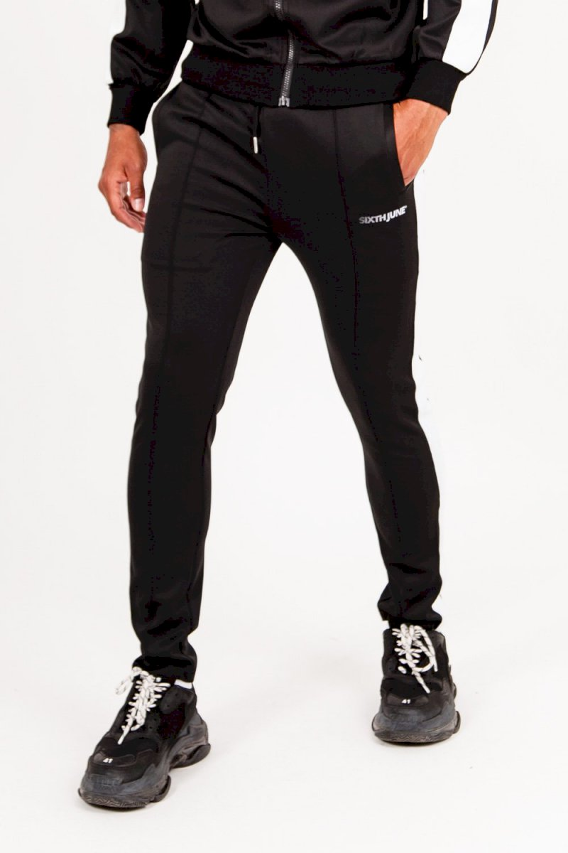 Sixth June TRACK PANTS Pantalon de survêtement bande logo noir