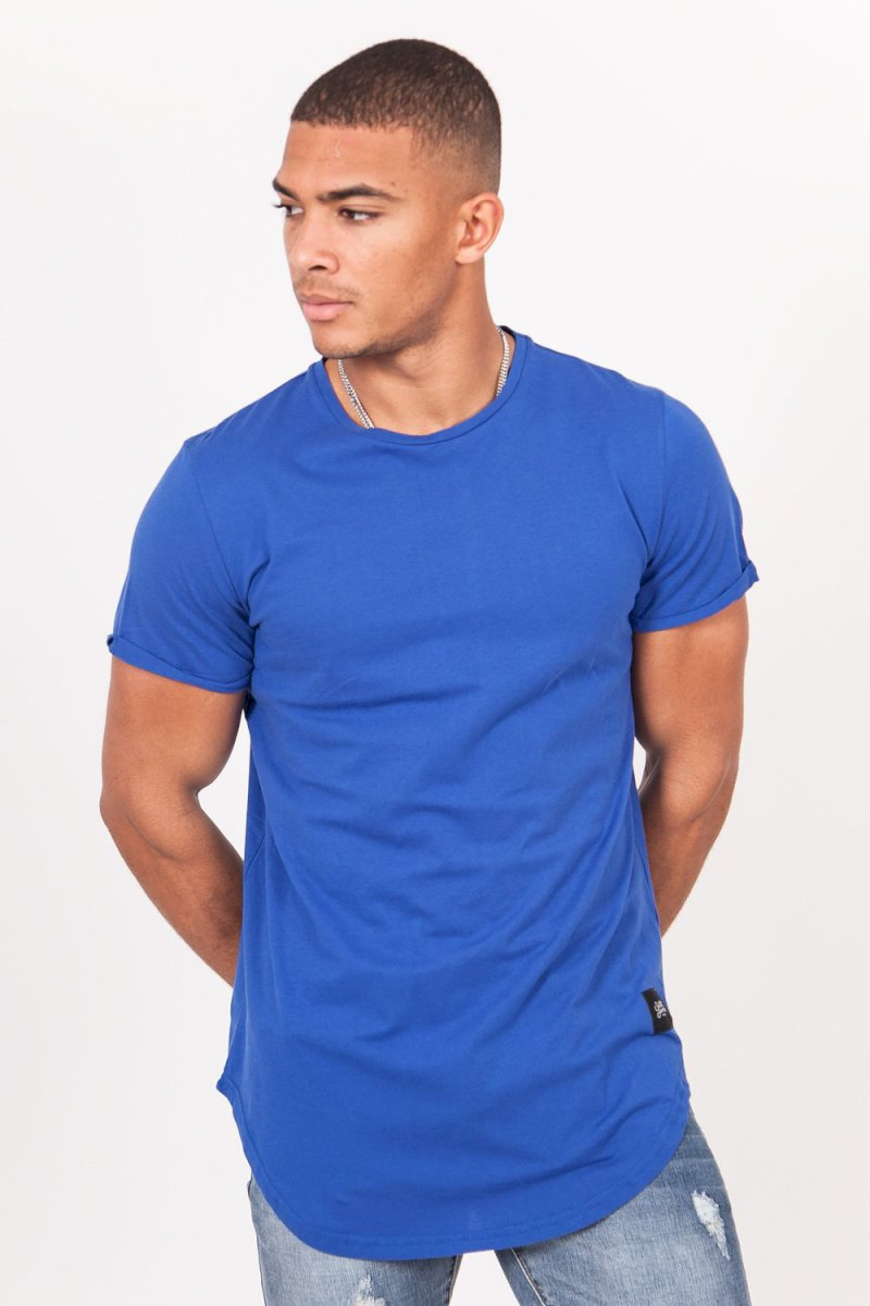 Sixth June REGULAR T-SHIRT WITH ROUNDED B (BLUE) T-shirt bas arrondi bleu