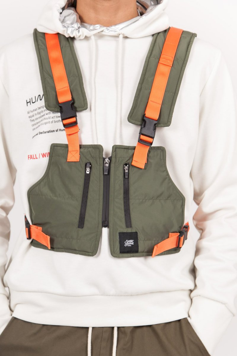Sixth June TACTICAL JACKET Light (KAKI) Gilet tactique léger court kaki orange